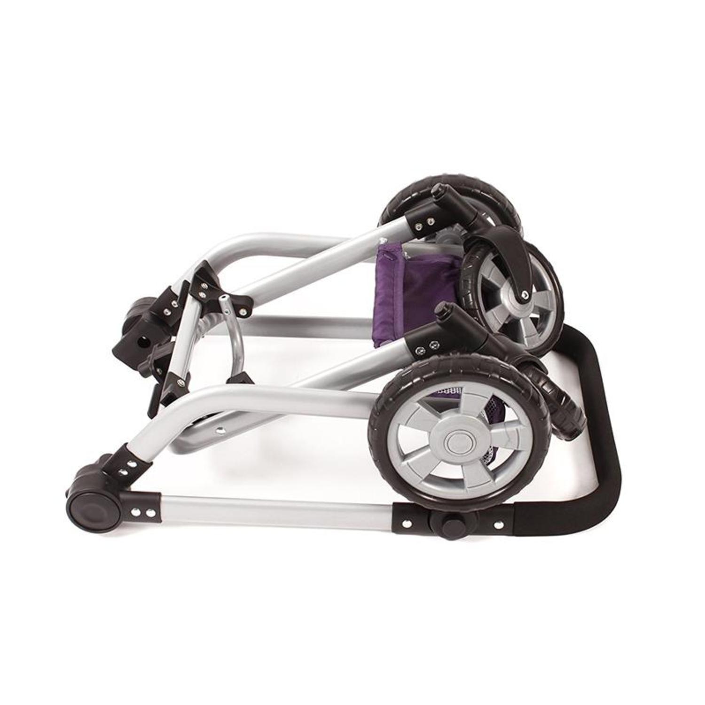 bayer chic 2000 595 28 kombi puppenwagen mika purple checker. Black Bedroom Furniture Sets. Home Design Ideas