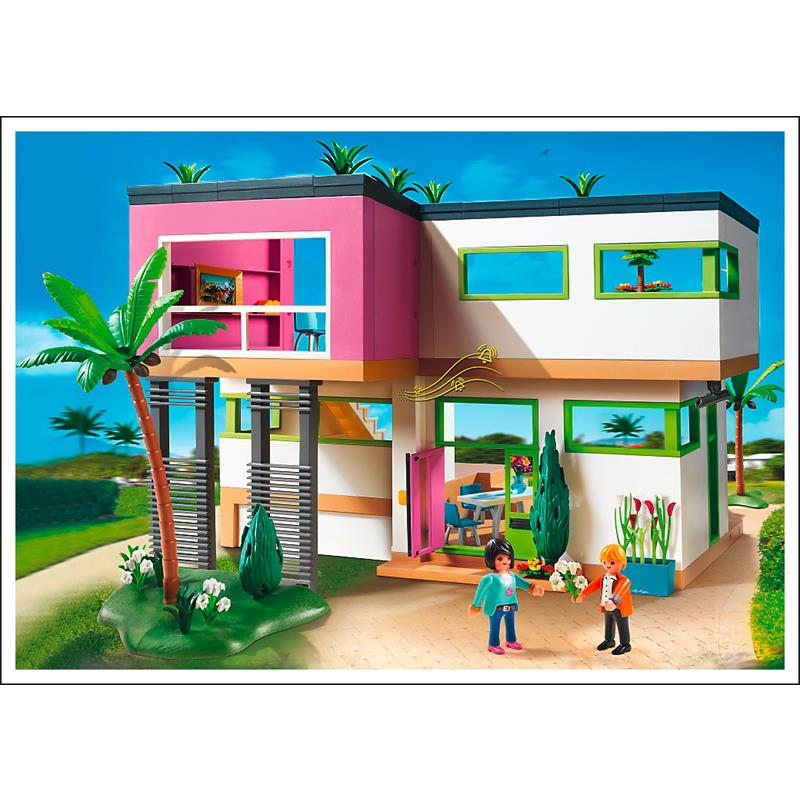 Playmobil 5574 moderne luxusvilla for Maison moderne 5574