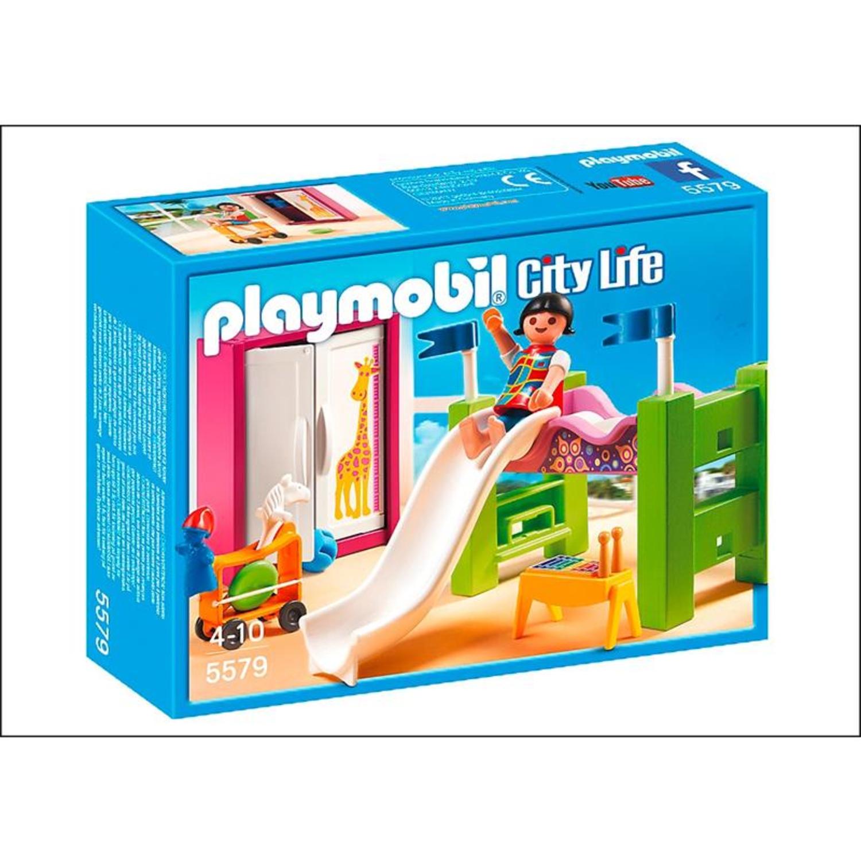 Playmobil 5579 kinderzimmer mit hochbett rutsche for Kinderzimmer play 01