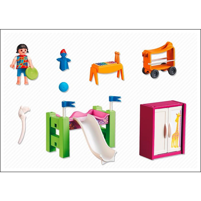 Playmobil 5579 kinderzimmer mit hochbett rutsche for Kinderzimmer playmobil