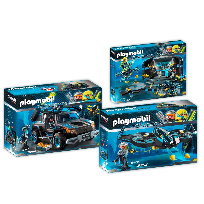 Playmobil 9250 53 54 Top Agents Set 3 3er Set 9250