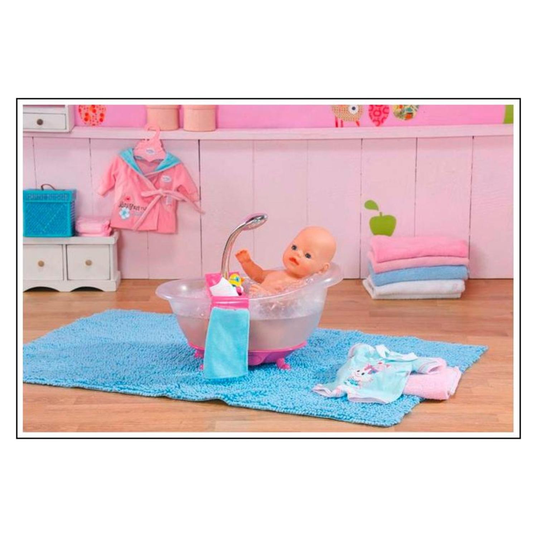 Zapf Creation 818183 Baby Born - Interaktive Badewanne mit Ente