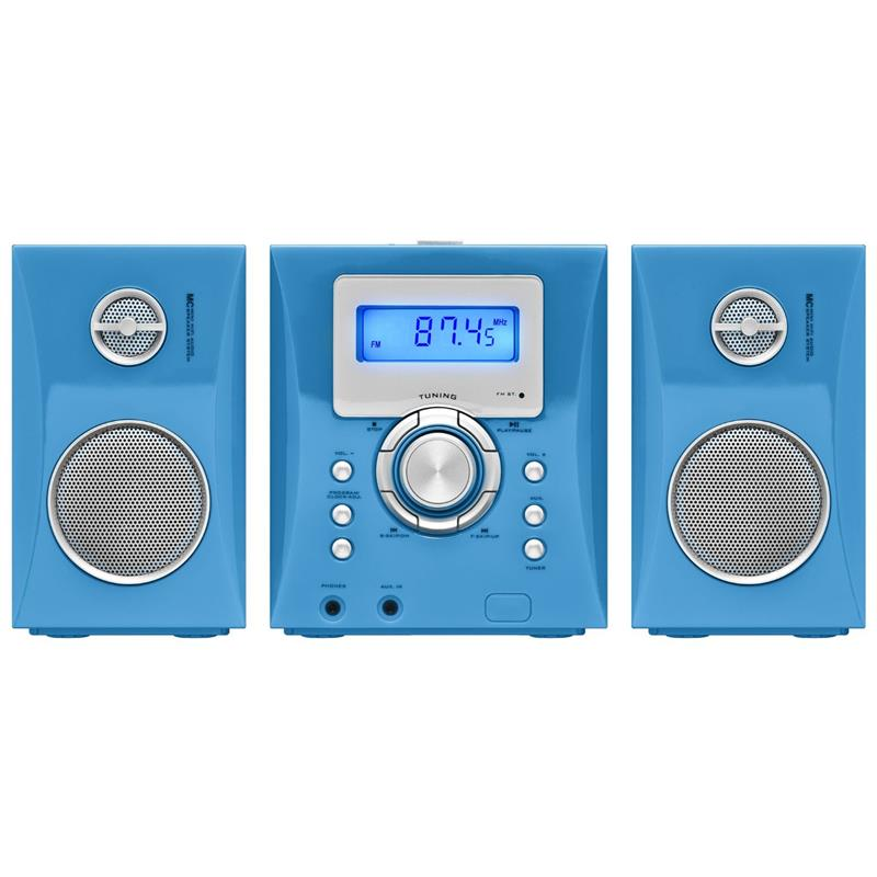 big ben 279429 mcd04 stereo music center cd player blau. Black Bedroom Furniture Sets. Home Design Ideas
