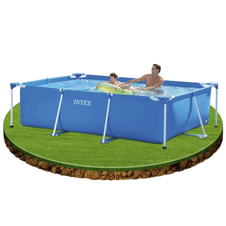 Intex 28271np rechteck stahlrahmen pool 260x160x65 for Rechteck pool zum aufstellen