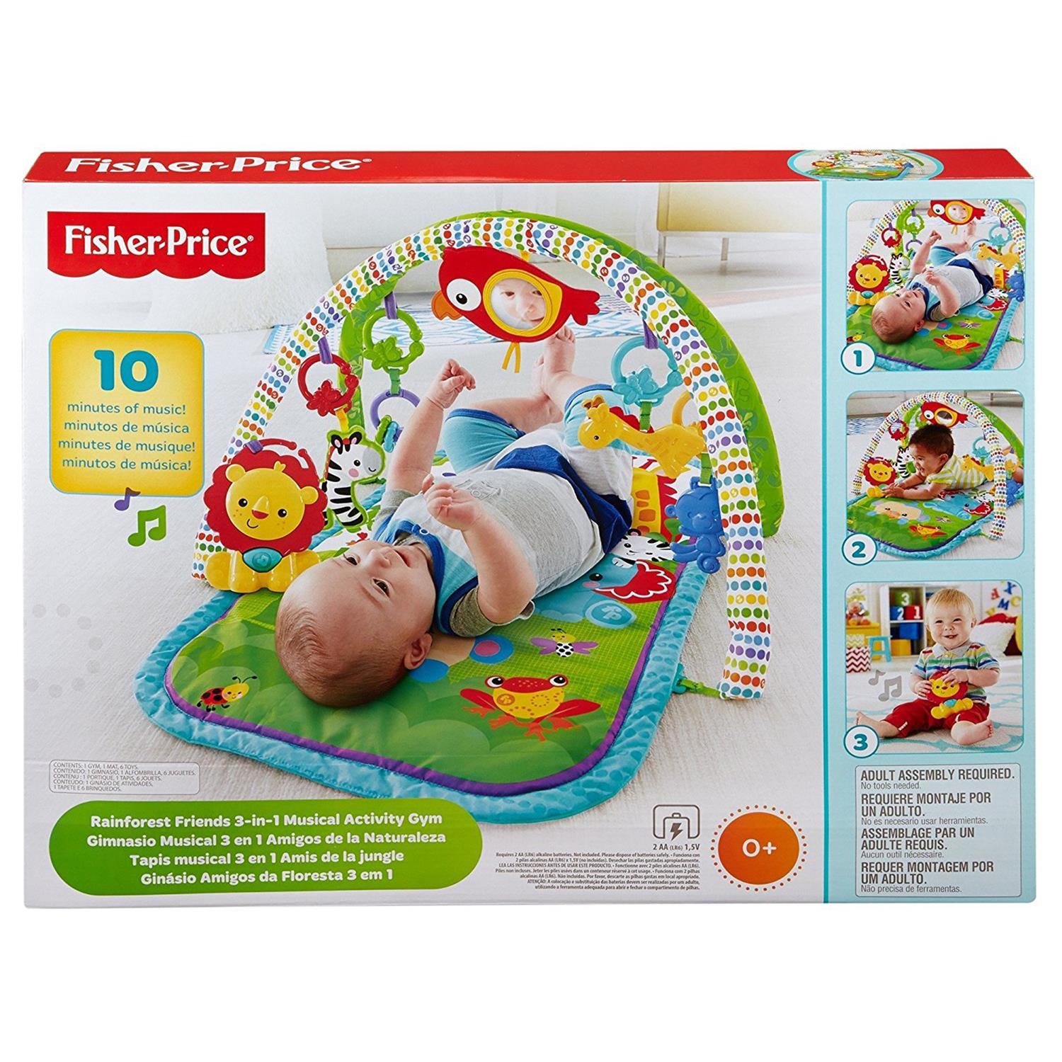 Mattel CHP85 Fisher Price Rainforest Freunde 3 in 1 Spieldecke
