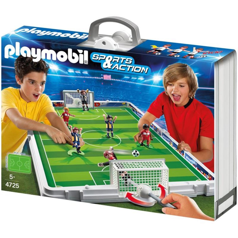 playmobil 4725 grosse fu ball arena im klappkoffer. Black Bedroom Furniture Sets. Home Design Ideas