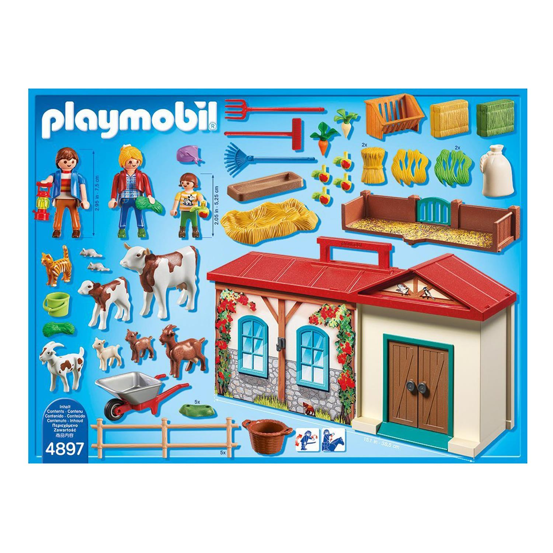 Playmobil 4897 mitnehm bauernhof for Playmobil pferde set