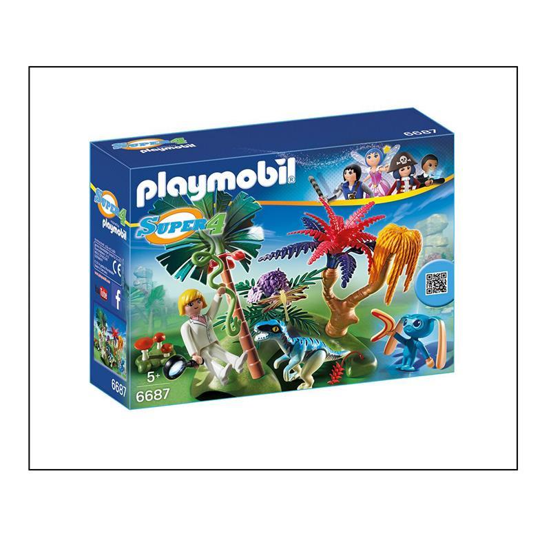 playmobil 6687 super 4 lost island mit alien und raptor. Black Bedroom Furniture Sets. Home Design Ideas
