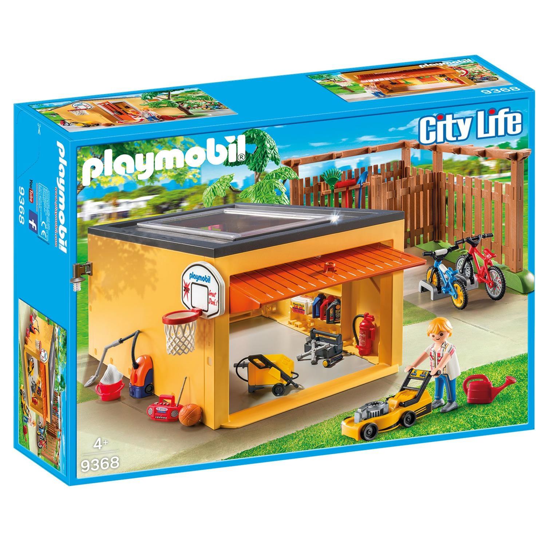 Playmobil 9368 garage mit fahrradstellplatz exklusivset for Playmobil modernes haus 9266