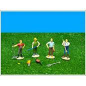 Van Manen 571931 Kids Globe Bauer - 4 Stück mit Zubehör