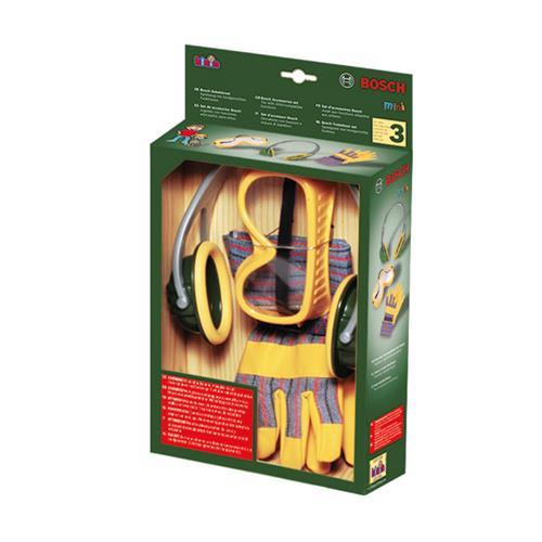theo klein 8535 bosch werkzeug zubeh rset mit handschuhen kopfh rer schutzbri ebay. Black Bedroom Furniture Sets. Home Design Ideas