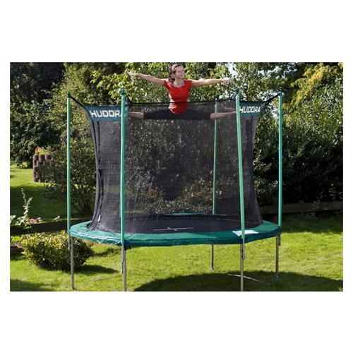 hudora 65150 trampolin mit sicherheitsnetz 305 cm ebay. Black Bedroom Furniture Sets. Home Design Ideas