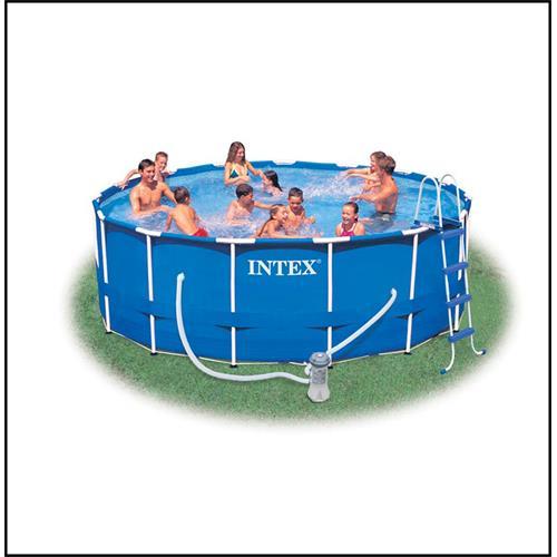 intex 28236gs metall rahmen pool set 457 x 122 cm mit pumpe ebay. Black Bedroom Furniture Sets. Home Design Ideas