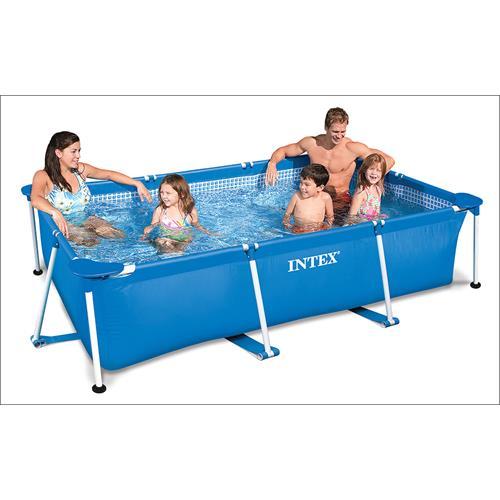 intex schwimmbecken 28272 frame pool family ii 3 m x 2 m rechteckig ebay. Black Bedroom Furniture Sets. Home Design Ideas