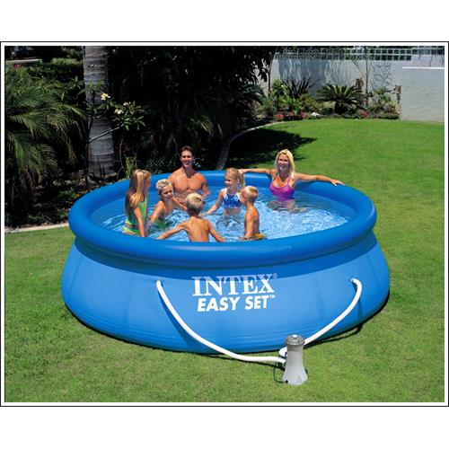 intex 56922 easy set pool with pump and 1 filter cartridge. Black Bedroom Furniture Sets. Home Design Ideas