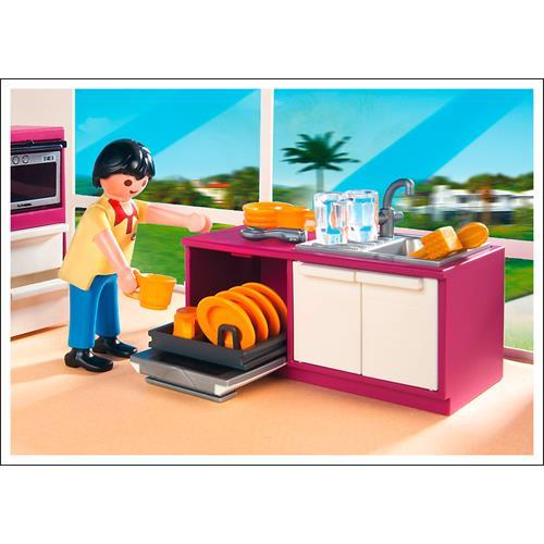 Playmobil 5582 city life cuisine moderne avec lot ebay for Cuisine moderne playmobil