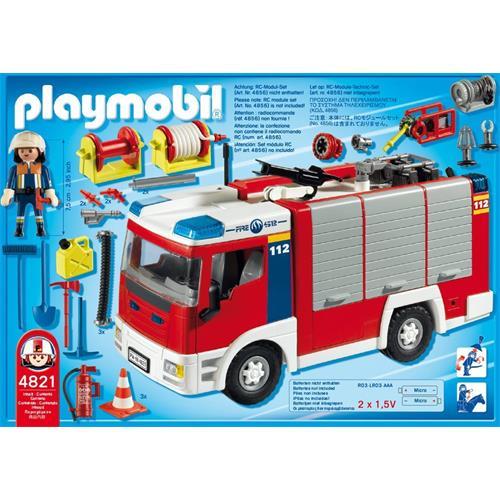 playmobil 4821 fourgon d 39 intervention de pompier ebay. Black Bedroom Furniture Sets. Home Design Ideas
