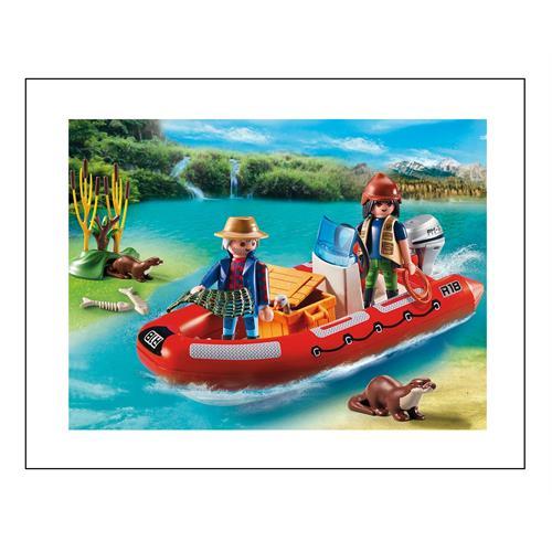 playmobil 5559 schlauchboot mit wilderern ebay. Black Bedroom Furniture Sets. Home Design Ideas