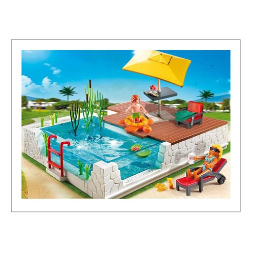 Playmobil 5575 city life piscina con terraza ebay for Ebay piscinas