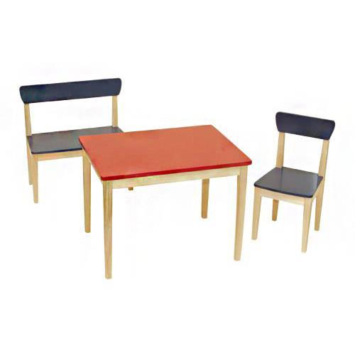 Roba 50715 ensemble table banc et chaise en bois pour enfants - Chaise pour table en bois ...