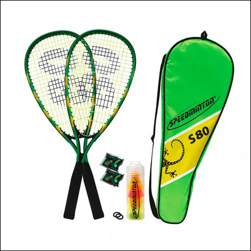 MTS-Sportartikel-400074-Speedminton-Set-S-80-in-Fullcover-mit-5-Speederbaellen