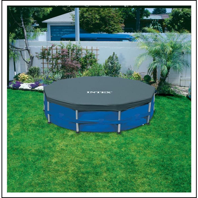 intex 28031 abdeckplane f r frame pools 366 cm. Black Bedroom Furniture Sets. Home Design Ideas