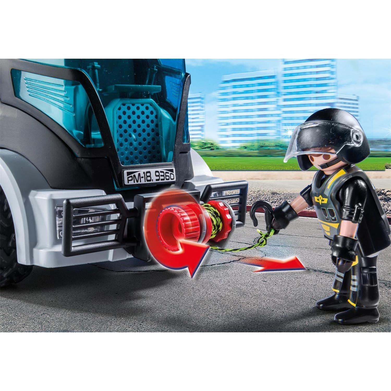 sek truck ausmalbilder playmobil polizei sek  flaggen zum