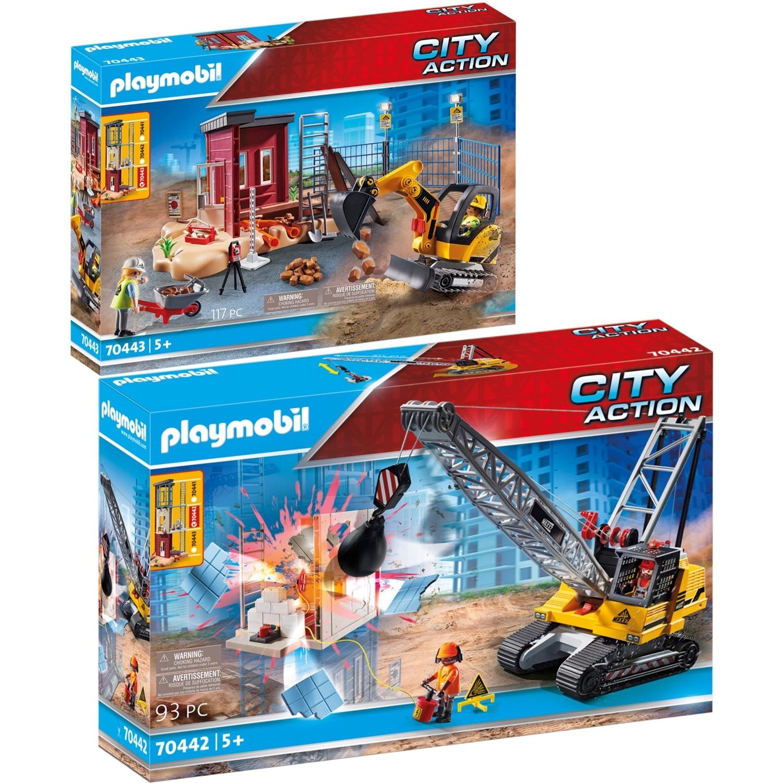 playmobil 70442 70443 city action 2er set seilbagger