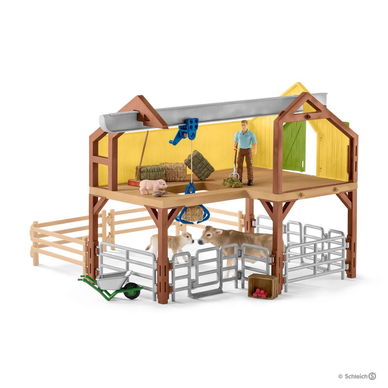 Spielzeug Plüschtiere & -figuren Schleich Bauernhaus Mit Stall Und Tieren 42407
