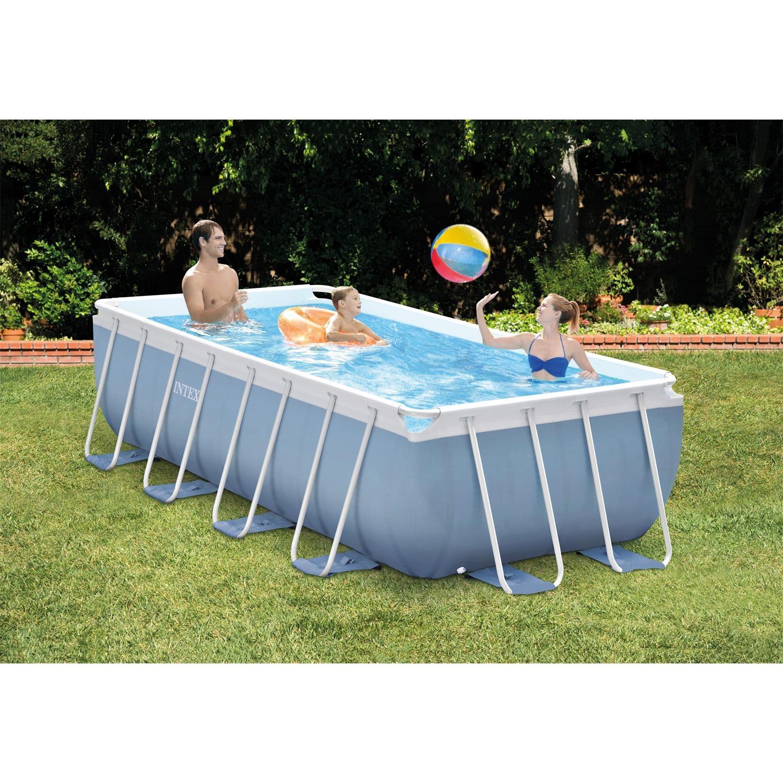 intex 26776gn prismframe pool set inkl pumpe 400 x 200 x. Black Bedroom Furniture Sets. Home Design Ideas