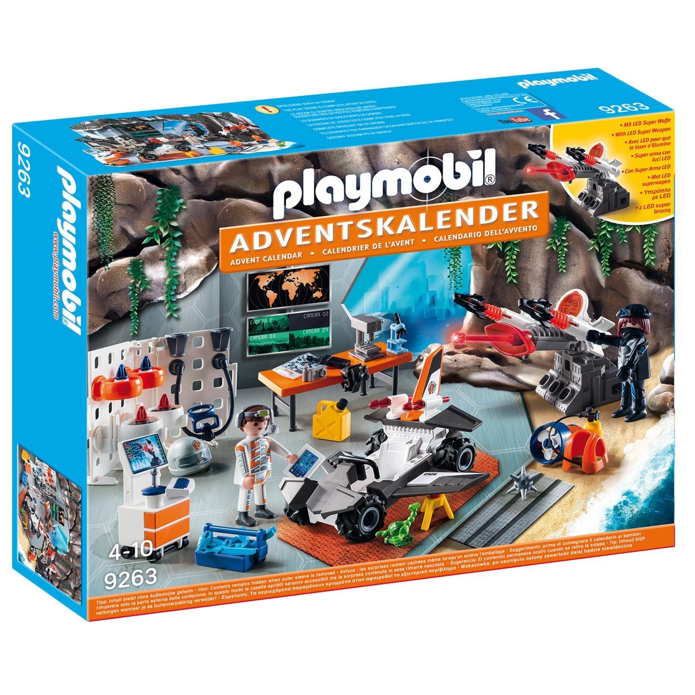 Nerf Weihnachtskalender.Playmobil 9263 Adventskalender Spy Team Werkstatt