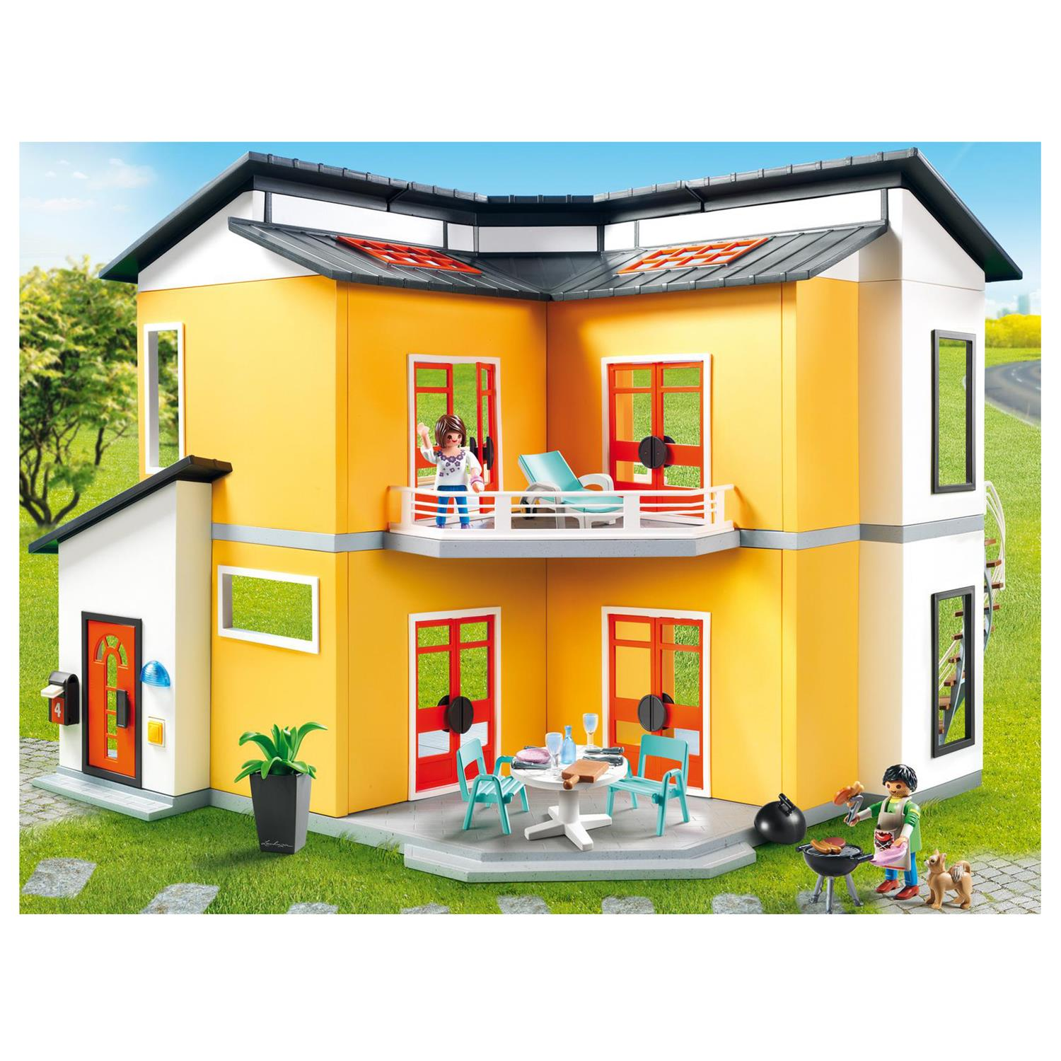Beautiful playmobil modernes villa pictures amazing for Villa moderne playmobil 4279