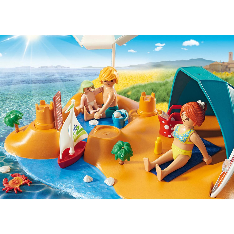 Baukästen & Konstruktion Familie am Strand Playmobil