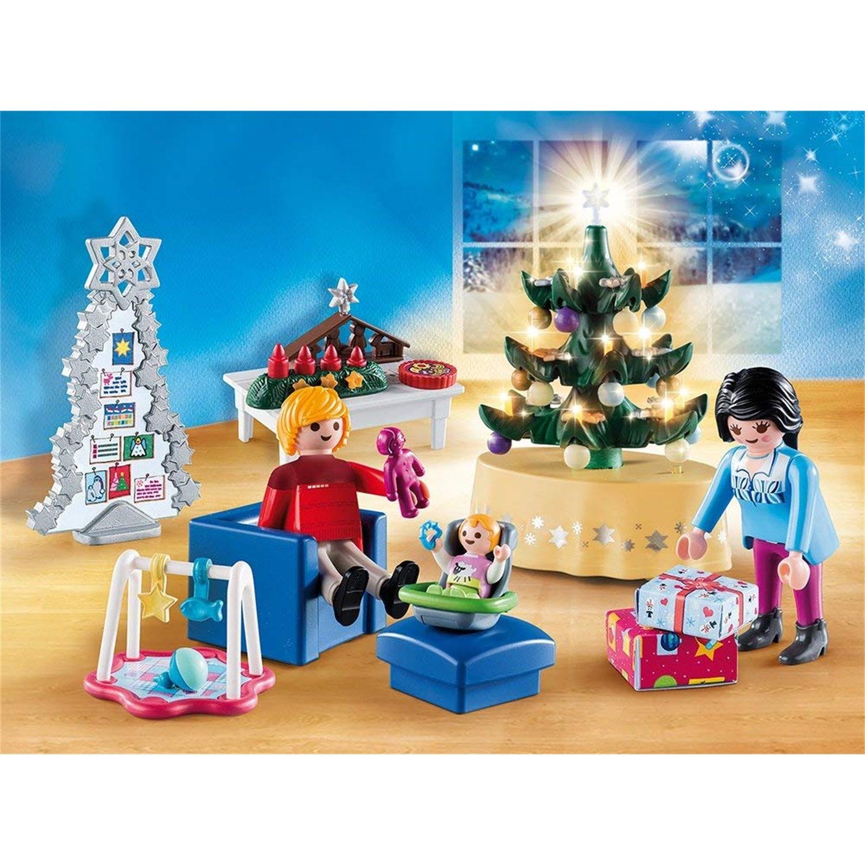 Playmobil Weihnachtsbaum.Playmobil 9495 Weihnachtliches Wohnzimmer
