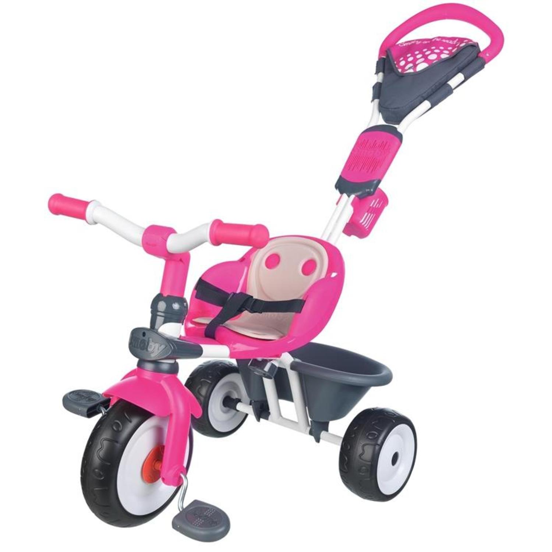 smoby 740600 baby driver comfort dreirad mit dach rosa. Black Bedroom Furniture Sets. Home Design Ideas