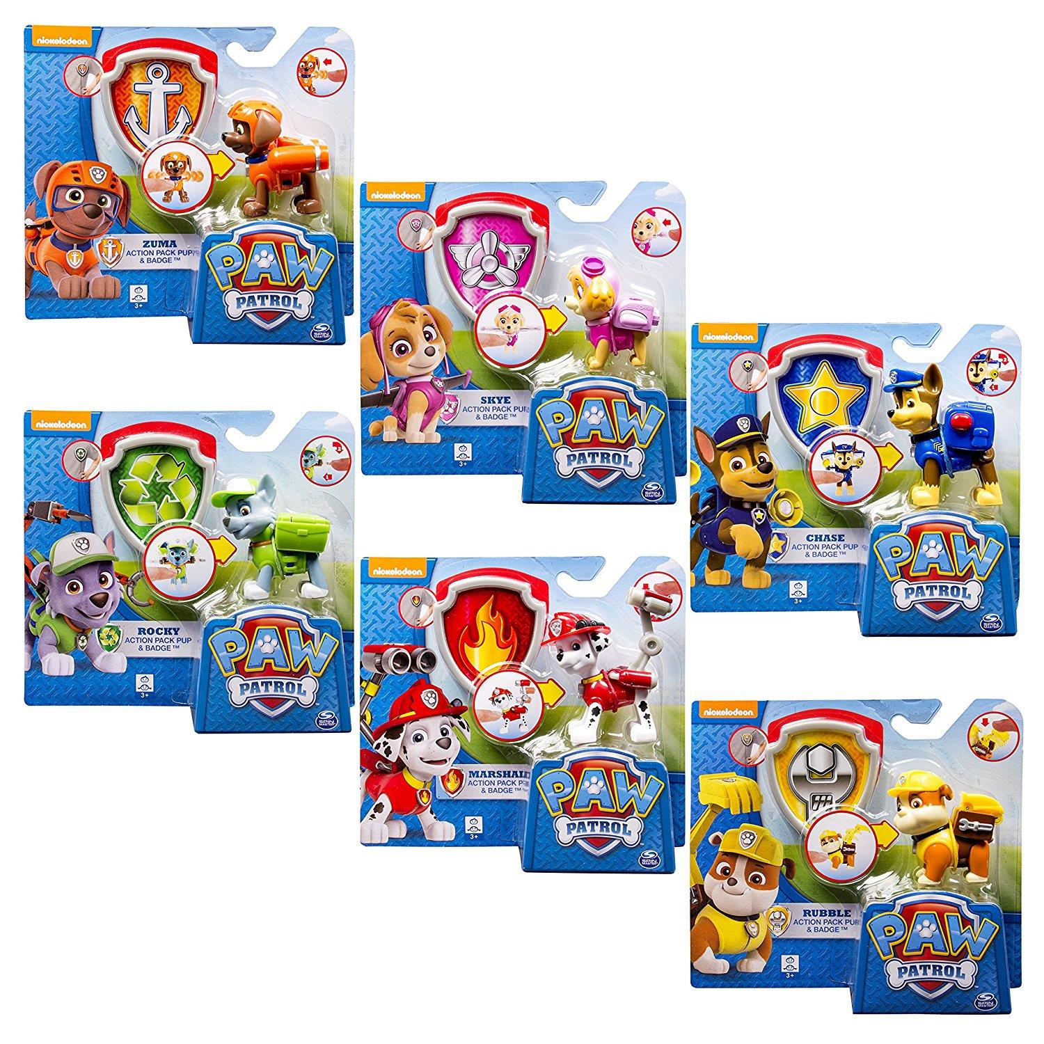 spin master 6022626 paw patrol action pack deluxe figur