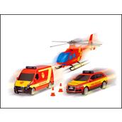 Dickie 203314927 City Rescue Team (2 vehicles & 1 Helicopter)